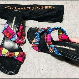🌈Donald J Pliner slip on sandals with low heel🌈